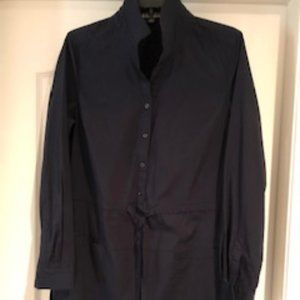 Brooks Brother Navy Blue Shirt Dress NWOT sz 10